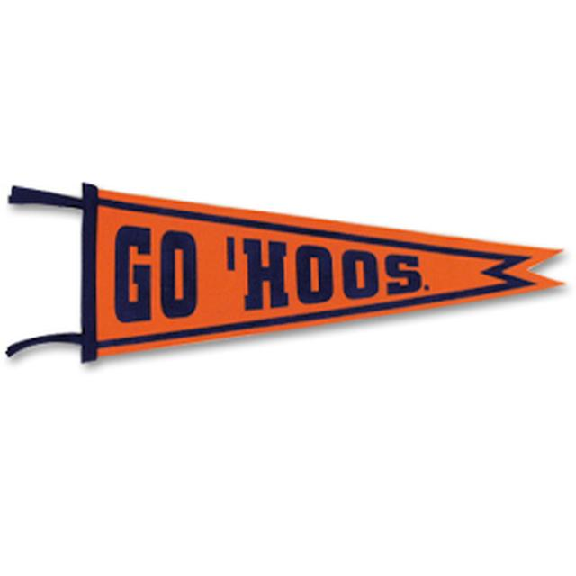 "UVA ""Go Hoos"" Pennant"