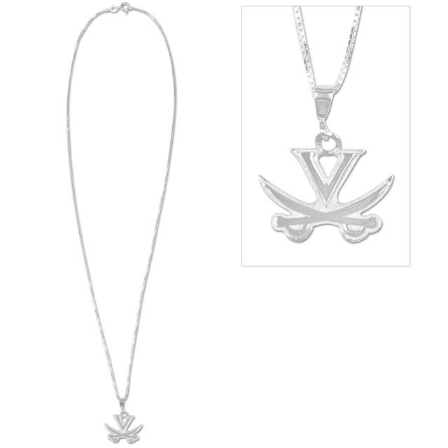 UVA V-Sabre Sterling Silver Charm Necklace