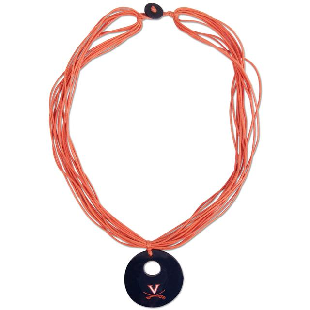 UVA V-Sabre Multi-Strand Wooden Necklace