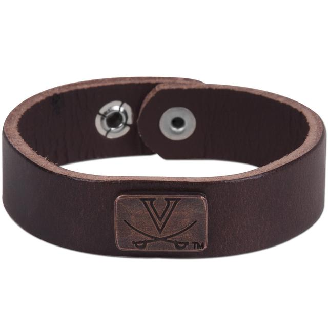 UVA Collegiate Leather Bracelet