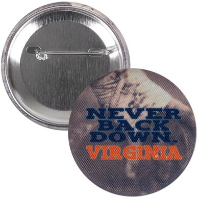 "UVA Never Back Down 2.25"" Fabric Fan Button"