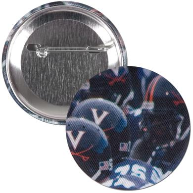 "UVA Team Helmet 2.25"" Fabric Fan Button"