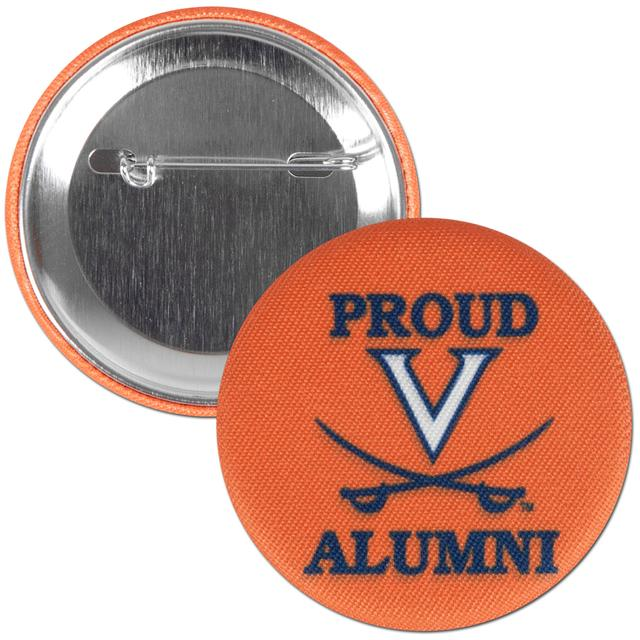 "UVA Proud Alumni 2.25"" Fabric Fan Button"