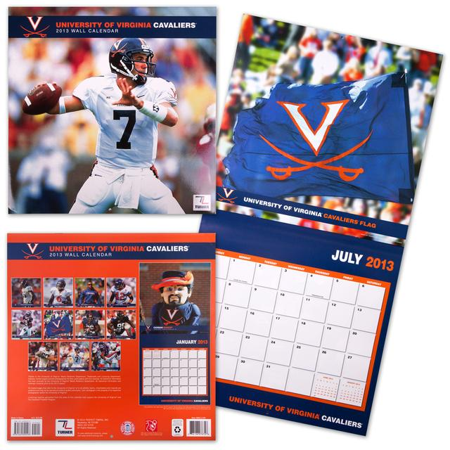 "UVA 2013 12x12"" Team Wall Calendar"