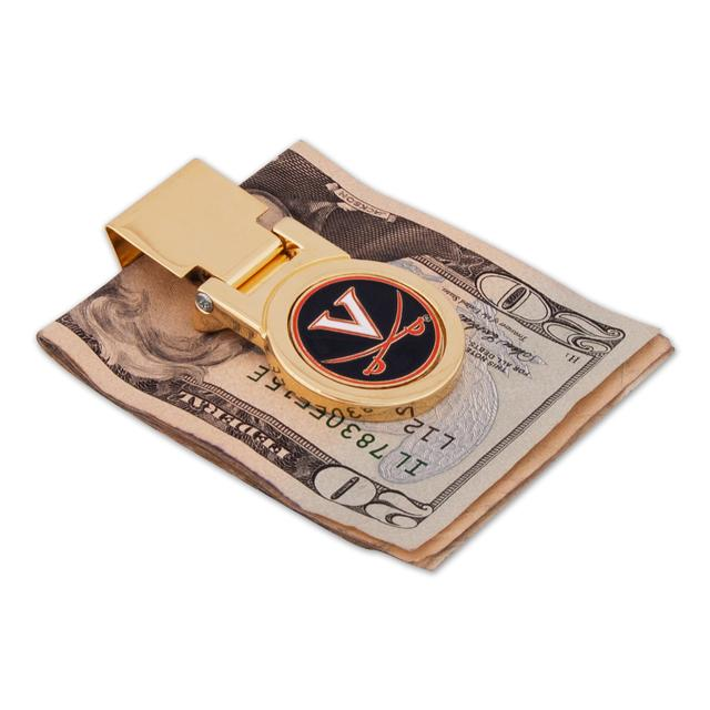 UVA Gold Money Clip
