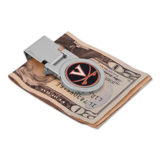 UVA Silver Money Clip