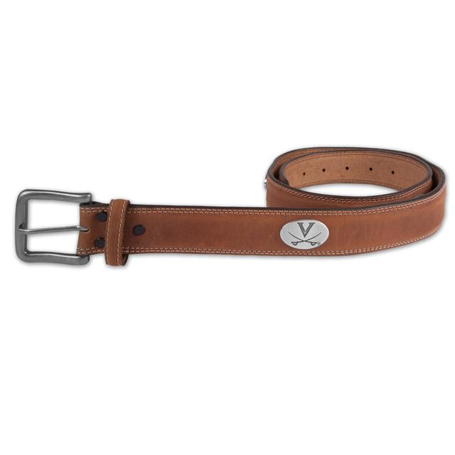 UVA Crazy Horse Tan Leather Belt