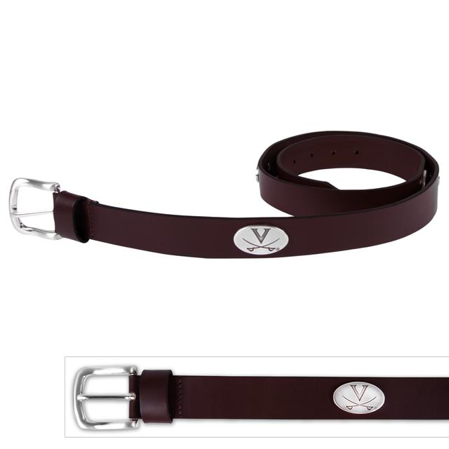 UVA American Bull Brown Leather Belt