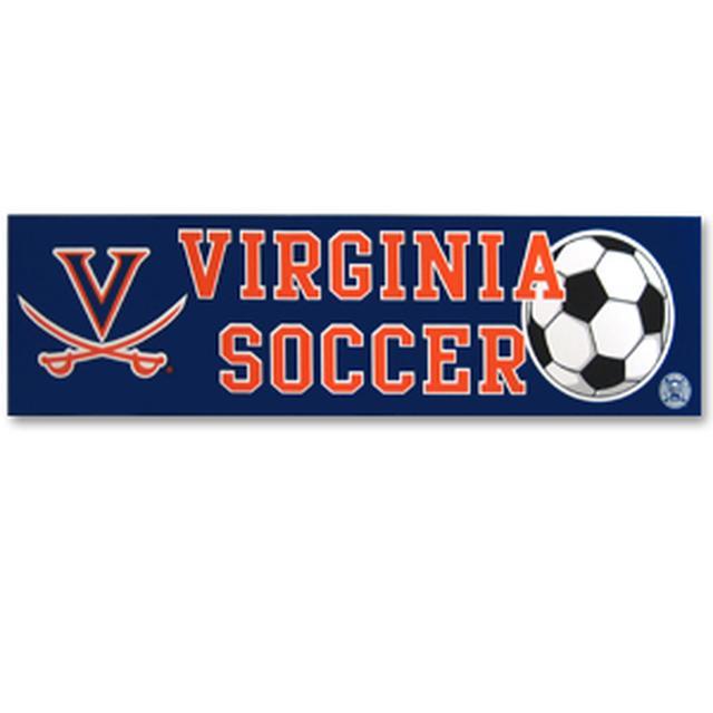 UVA Soccer Bumper Sticker