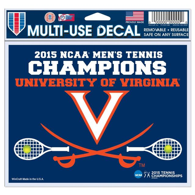 UVA 2015 Men's Tennis Champions Decal