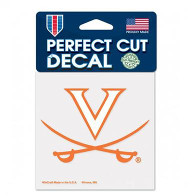"UVA Athletics University of Virginia Perfect Cut Decal - 4"" x 4"""