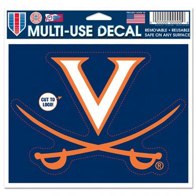 "UVA Athletics University of Virginia Multi-Use Decal - 4.5"" x 5.75"""