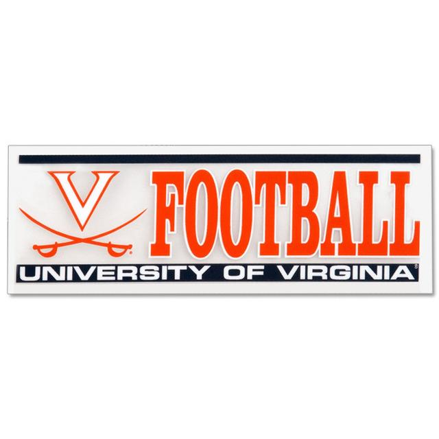 UVA V-Sabre Football Decal