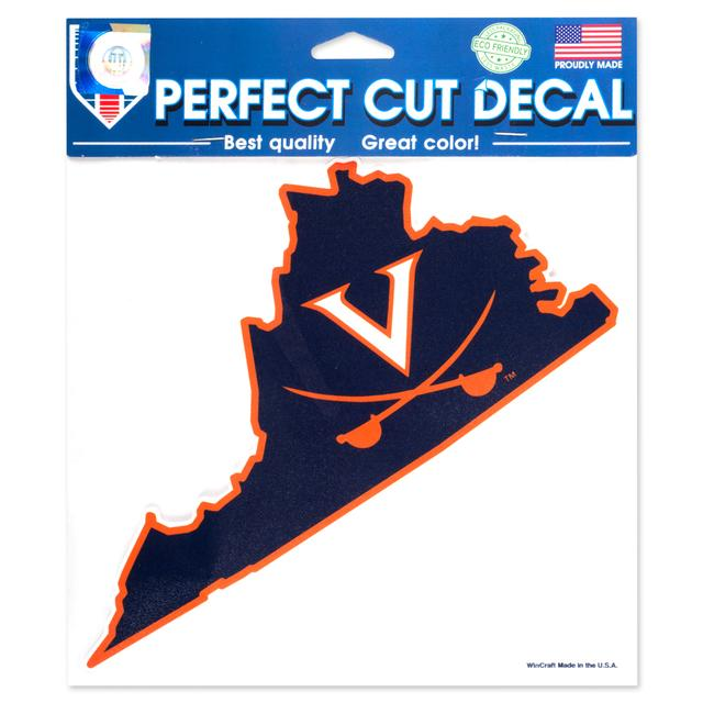 "UVA - 8""x8"" Perfect Cut Virginia-Sabre Ultra Decal"