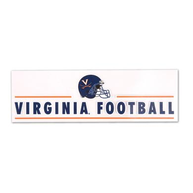 "UVA Athletics Virginia Football 3"" x 10"" Perfect-Cut Decal"