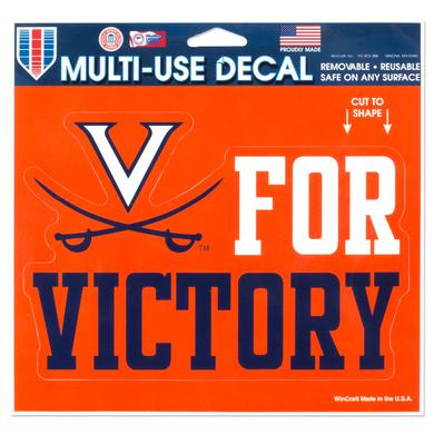 UVA Athletics V for Victory 5x6 Multi-Use Decal