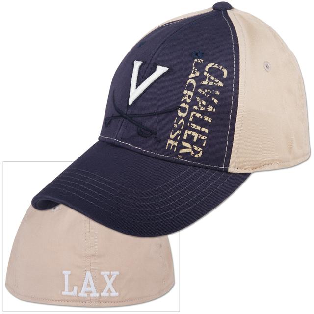 Navy UVA Recruit Virginia Lacrosse 1Fit Cap