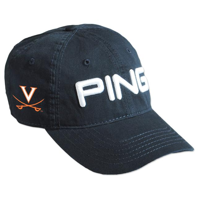 UVA PING Washed Chino Twill Unstructured Adjustable Cap
