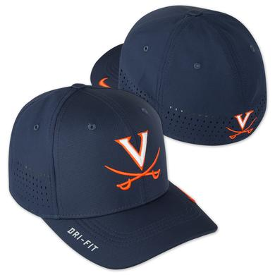 NIKE UVA Sideline Swooshflex Hat