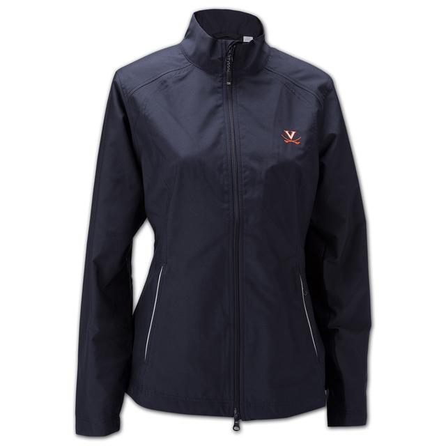 UVA Cutter & Buck Ladies Weathertec Beacon Full Zip Jacket