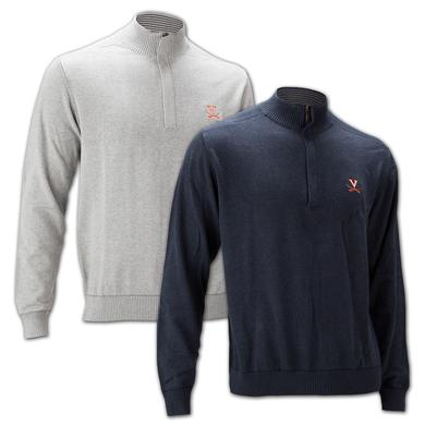 UVA Athletics Cutter & Buck Broadview Half Zip  Sweater