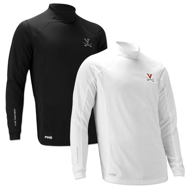 UVA PING Textured Mock Long Sleeve Shirt