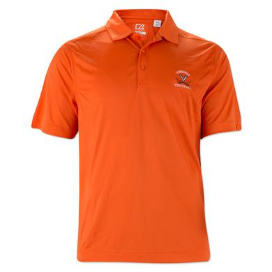 UVA Cutter & Buck Classic Drytec Football Polo