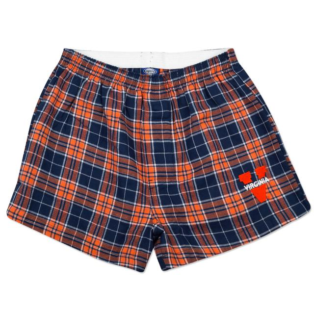 UVA Mens Flannel Boxer