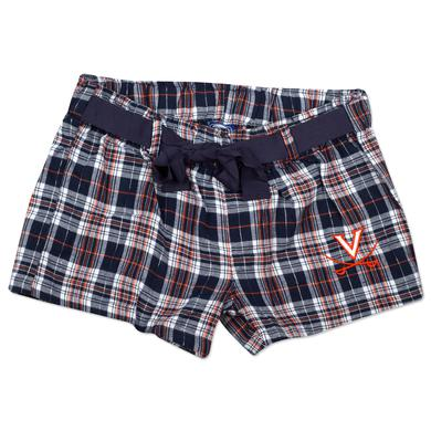 UVA Ladies Flannel Short