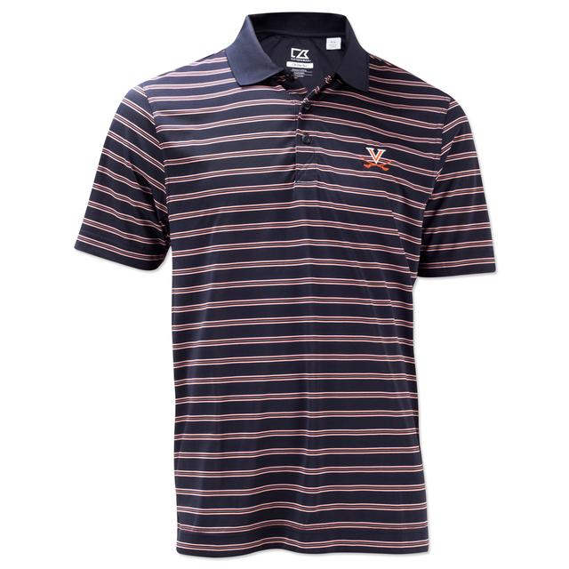 UVA Cutter & Buck Backspin Striped Polo