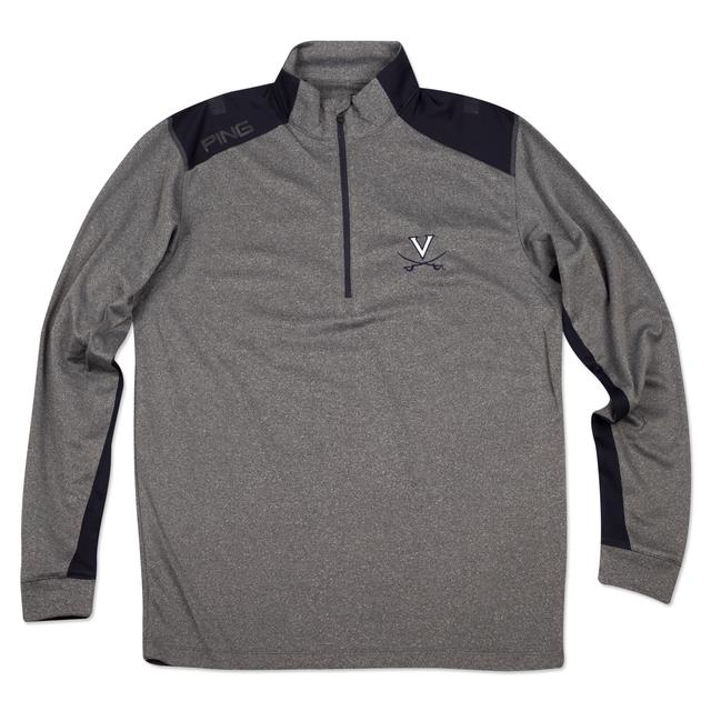 UVA PING Peak Half-Zip Performance L/S Shirt