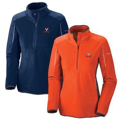 UVA Columbia Ladies Crosslight II Fleece Half Zip