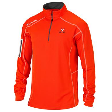 UVA Columbia Mens Omni-Wick Shotgun Quarter Zip