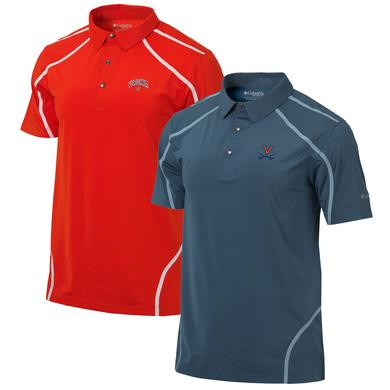 UVA Columbia Mens Omni-Wick Cut Away Polo