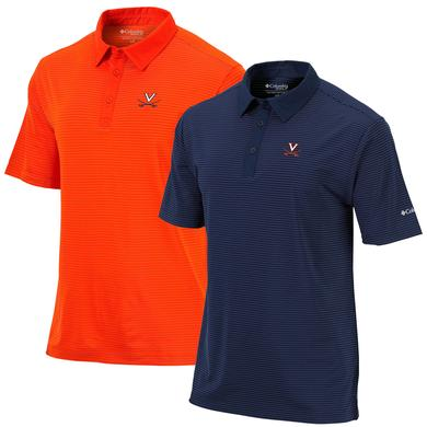 UVA Columbia Mens Omni-Wick Sunday Polo