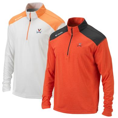 UVA Columbia Mens Omni-Wick Top of the Green Quarter Zip