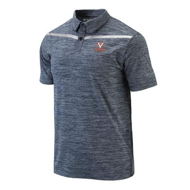UVA Athletics University of Virginia Columbia Reflective Tape Polo