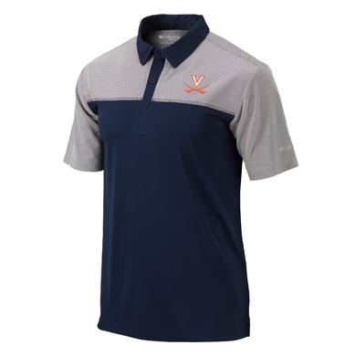 UVA Athletics University of Virginia Columbia Front Nine Polo