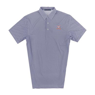 UVA Athletics University of Virginia ECOTEC Gingham Polo
