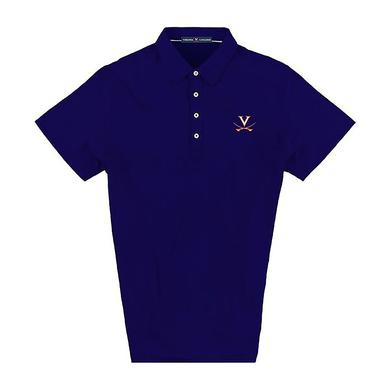 UVA Athletics University of Virginia LUXTEC Stretch Jersey Polo