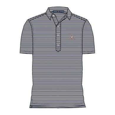 UVA Athletics University of Virginia LUXTEC Stretch Jersey Stripe Polo