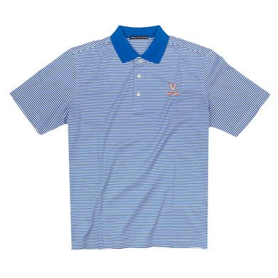 UVA Athletics University of Virginia SUPIMA Stripe Polo