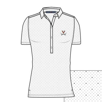 UVA Athletics University of Virginia ECOTEC Dual Dot Print Ladies Polo