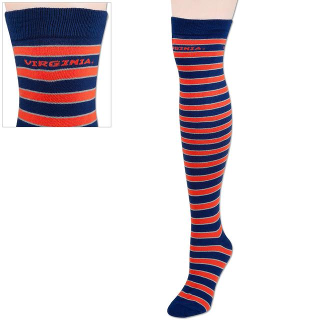UVA Retro Striped Knee High Socks