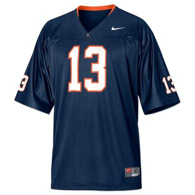 UVA 2011 Replica Football Jersey Navy #13