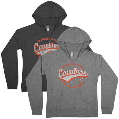 UVA Swept Ladies V-Notch Hoodie