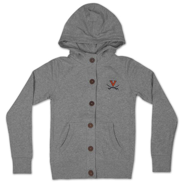 UVA Youth Girls Autumn Wood Button Hoody