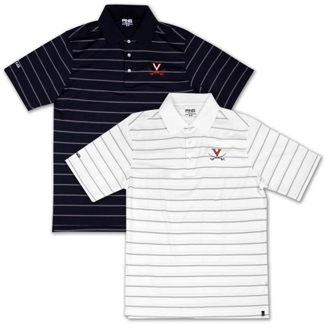 UVA PING Grain Striped Polo