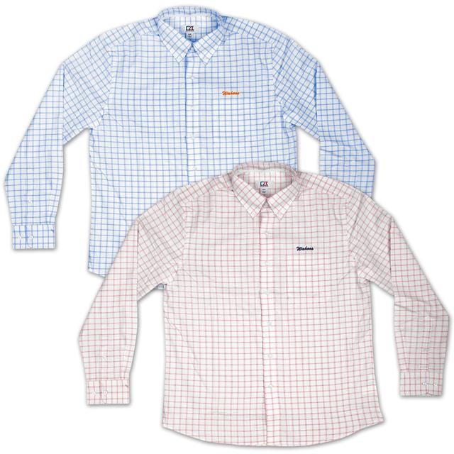 UVA Cutter & Buck Wahoos Cross Check Shirt