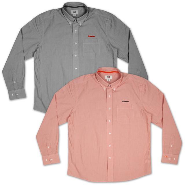 UVA Cutter & Buck Wahoos Gridiron Stripe Shirt